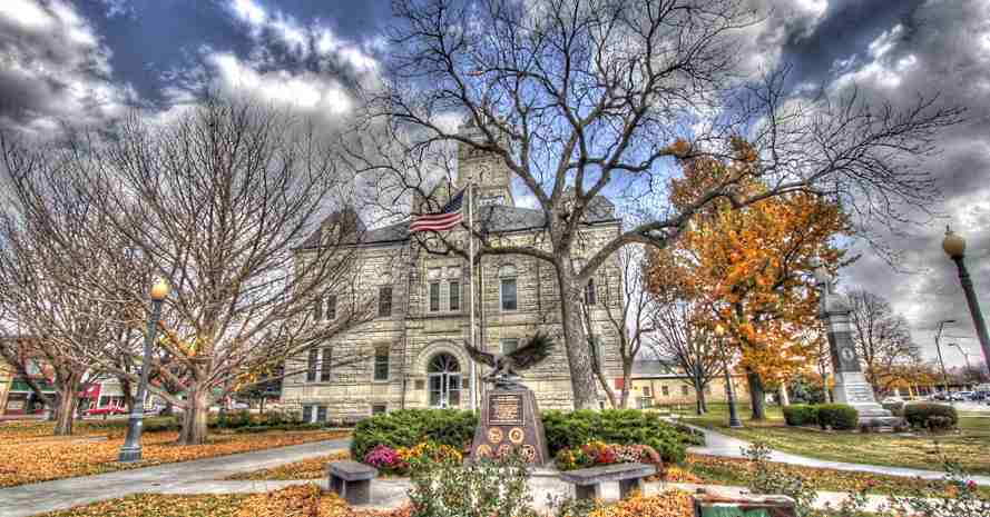 Courthouse in North Central Kansas; Photo by Michelle Tessaro