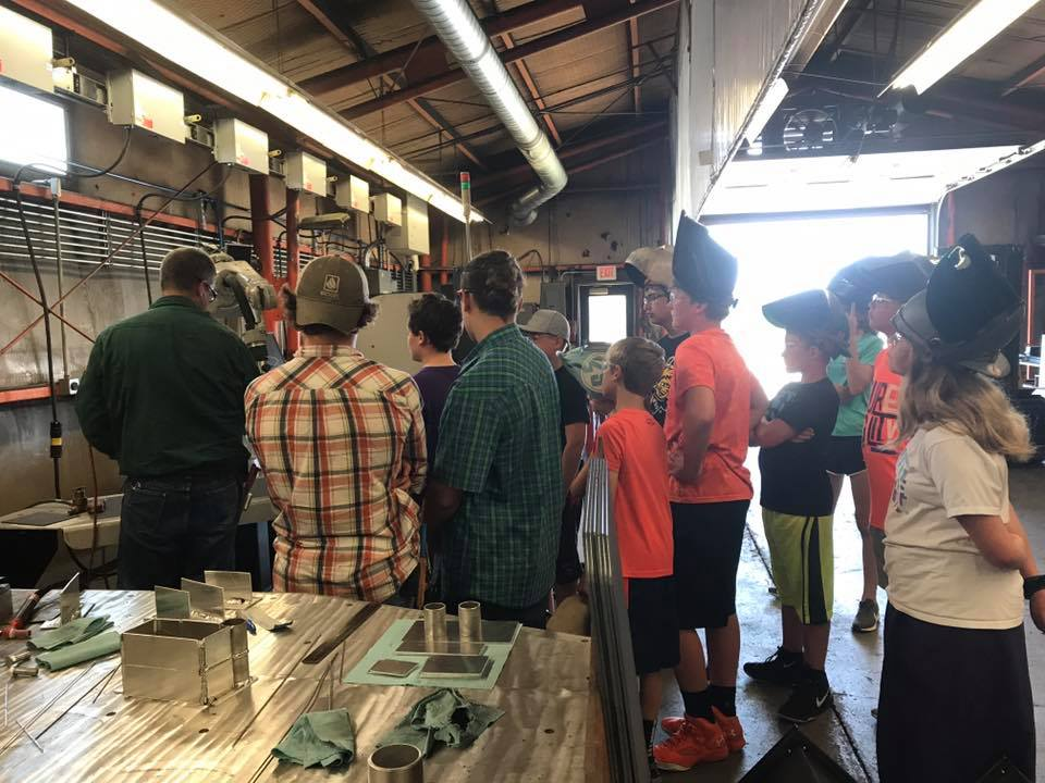 Touring AGCO's Beloit facility was one of the many experiences that participants had during the Career Exploration and Leadership Program in June.