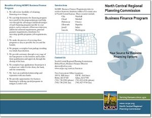 NCRPC Business Finance Brochure