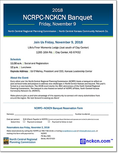 2018 NCRPC NCKCN Banquet Reservation Form