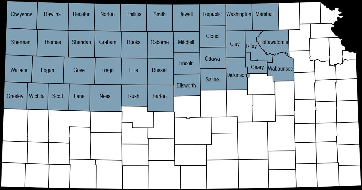 NCRPC weatherization service area map