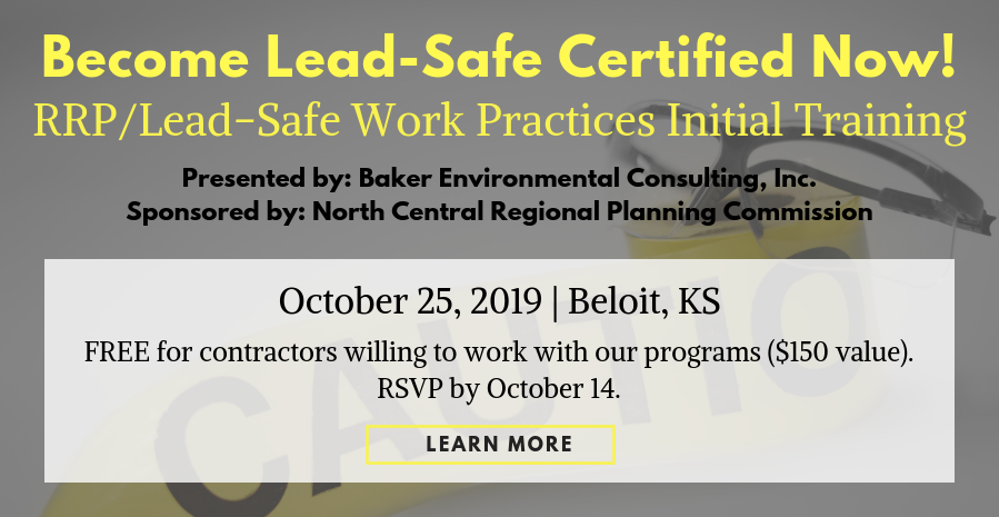 Lead Safe Work Practices Training Opportunity
