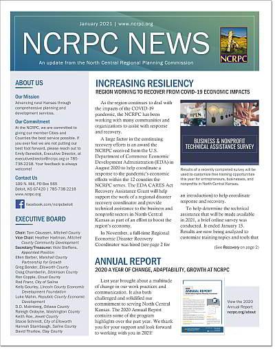 image of January 2021 newsletter
