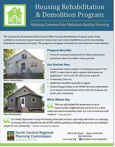 image of housing rehabilitation program flyer