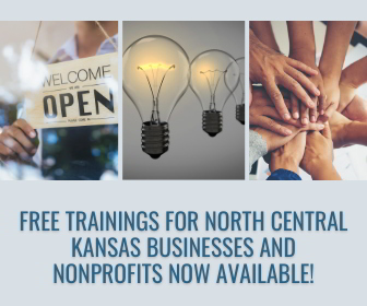 image of promotion for free trainings for north central kansas businesses and nonprofits